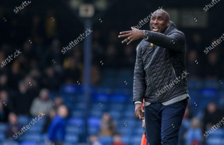 Sol Campbell, Southend United FC Manager.Southend United V Bristol Rovers. EFL1.