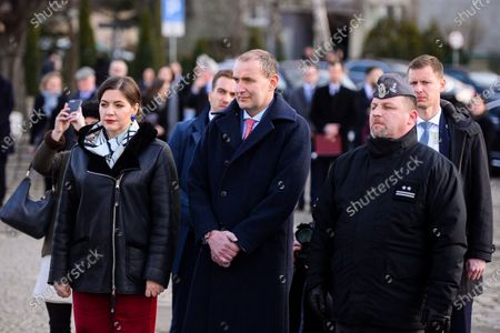 President of Iceland, Gudni Thorlacius Johannesson with his wife Eliza Reid and Province Governor, Dariusz Drelich during the visit to Gdansk.