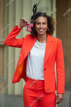 Serena Guthrie, Captain of The England Netball team is awarded an MBE for services to Netball
