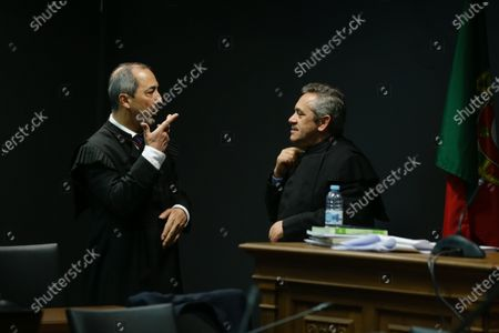 The prosecutors, Judge Rosario Teixeira (R) and Judge Vitor Pinto (L), during the fact-finding debate into the high-profile corruption case known as Operation Marques at the Justice Campus in Lisbon, Portugal, 05 March 2020. Operation Marques has 28 defendants - 19 people and 9 companies - including former prime minister Jose Socrates, banker Ricardo Salgado, businessman and friend of Socrates Carlos Santos Silva and senior staff of Portugal Telecom and is related to crimes of corruption, active and passive, money laundering, document forgery and tax fraud.