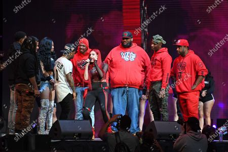 Stock Image of Pretty Vee, Emmanuel Hudson, Yvng Swag, Lil JJ, Rip Micheals, Nick Cannon, Big Mack and Justina Valentine