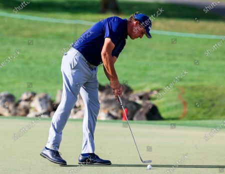 Phil Mickelson of the US putts on the thirteenth green during the first round of the Arnold Palmer Invitational golf tournament at Bay Hill Club & Lodge in Orlando, Florida, USA, 05 March 2020.