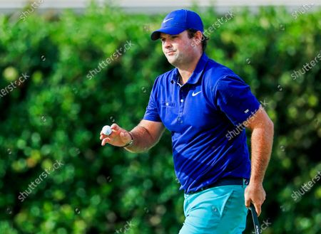 Patrick Reed of the US holds his ball after putting on the fourteenth green during the first round of the Arnold Palmer Invitational golf tournament at Bay Hill Club & Lodge in Orlando, Florida, USA, 05 March 2020.