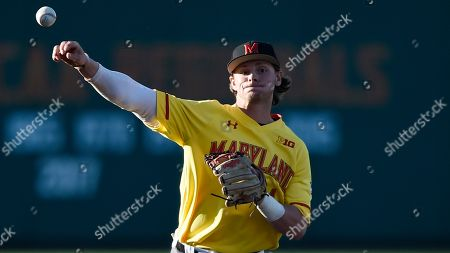 Maryland's Matt Orlando during an NCAA baseball game, in College Park, Md