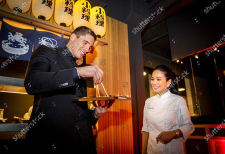 Dutch world champion kickboxing Rico Verhoeven stands in the kitchen prior to the opening of his fast-casual restaurant in collaboration with Eveline Wu (R), in Eindhoven, The Netherlands, 05 March 2020.