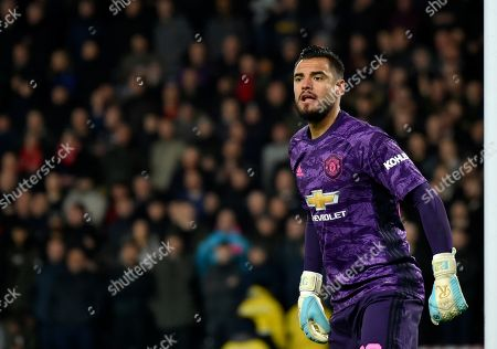 Manchester United's goalkeeper Sergio Romero reacts during the FA Cup fifth round soccer match between Derby County and Manchester United at Pride Park in Derby, England
