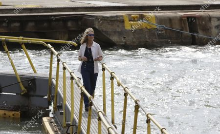 Editorial image of Infanta Elena crosses the first locks of the Panama Canal, Panama City - 05 Mar 2020