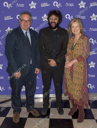 Chris Shaw, Nish Kumar and Martha Kearney