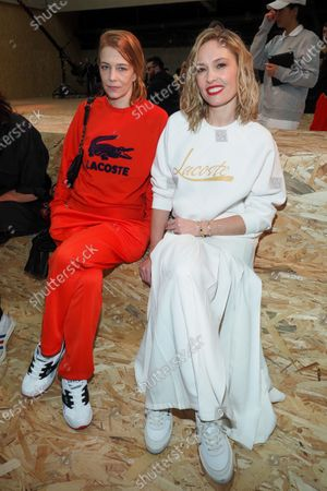 Editorial image of Lacoste show, Front Row, Fall Winter 2020, Paris Fashion Week, France - 03 Mar 2020