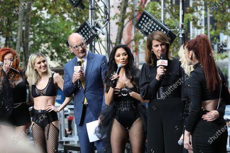 Stock Photo of The Pussycat Dolls - Nicole Scherzinger, David Koch and Natalie Barr