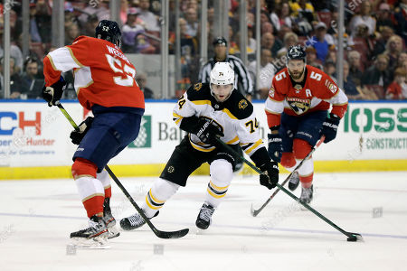 Editorial picture of Bruins Panthers Hockey, Sunrise, USA - 05 Mar 2020