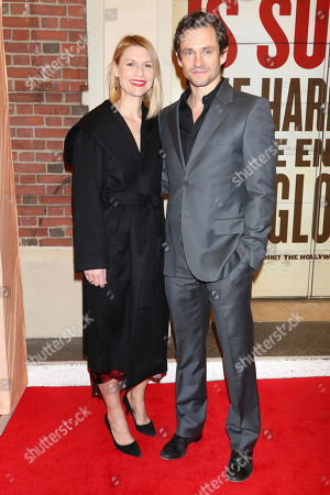 "Claire Danes, Hugh Dancy. Claire Danes, left, and Hugh Dancy attend the Broadway opening night of ""Girl From The North Country"" at the Belasco Theatre, In New York"