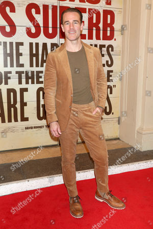 "James Van Der Beek attends the Broadway opening night of ""Girl From The North Country"" at the Belasco Theatre, In New York"