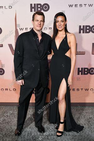Stock Photo of Jonathan Nolan and Lisa Joy