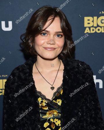 """Oona Laurence attends the premiere of """"Big Time Adolescence"""" at Metrograph, in New York"""