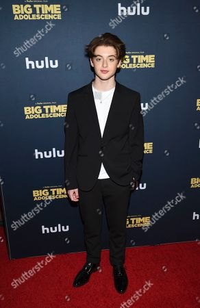 "Thomas Barbusca attends the premiere of ""Big Time Adolescence"" at Metrograph, in New York"