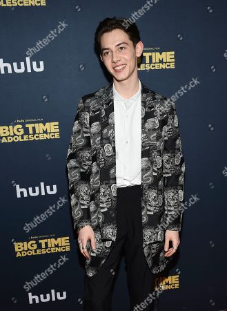 """Griffin Gluck attends the premiere of """"Big Time Adolescence"""" at Metrograph, in New York"""