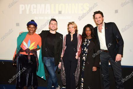 Quentin Delcourt, Marie Chretien-Franceschini, Hapsatou Sy, Vincent Cerutti and guest