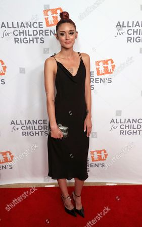 Caroline D'Amore arrives at The Alliance for Children's Rights 28th Annual Dinner at The Beverly Hilton, in Beverly Hills, Calif