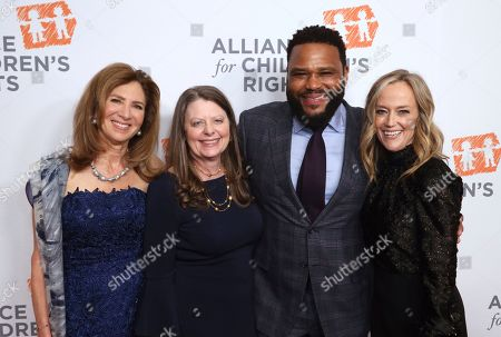 Susan Saltz, Jennifer L. Braun, Anthony Anderson, Karey Burke. Susan Saltz, from left, Jennifer L. Braun, Anthony Anderson and Karey Burke arrive at The Alliance for Children's Rights 28th Annual Dinner at The Beverly Hilton, in Beverly Hills, Calif
