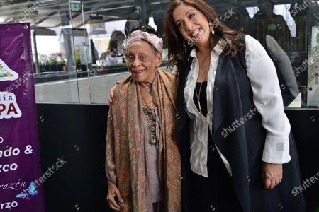 Stock Photo of Cuban singer Omara Portuondo and Mexican soprano Regina Orozco