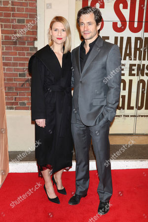 "Claire Danes, Hugh Dancy. Claire Danes and Hugh Dancy attend the Broadway opening night of ""Girl From The North Country"" at the Belasco Theatre, In New York"