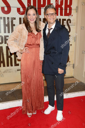 """Stock Picture of Laura Osnes, Nathan Johnson. Laura Osnes and Nathan Johnson attend the Broadway opening night of """"Girl From The North Country"""" at the Belasco Theatre, In New York"""