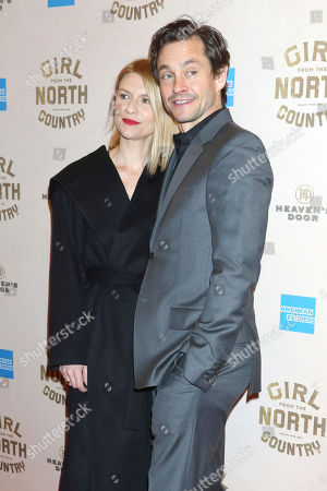 "Stock Picture of Claire Danes, Hugh Dancy. Claire Danes and Hugh Dancy attend the Broadway opening night of ""Girl From The North Country"" at the Belasco Theatre, In New York"