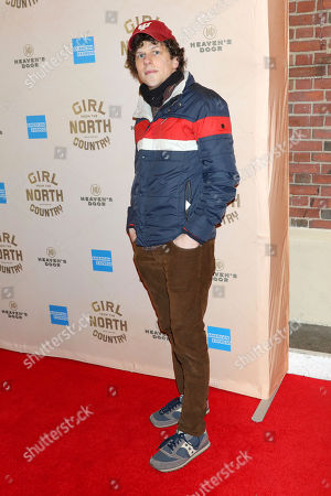 """Stock Picture of Jesse Eisenberg attends the Broadway opening night of """"Girl From The North Country"""" at the Belasco Theatre, In New York"""