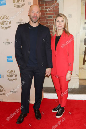 """Stock Photo of Corey Stoll, Nadia Bowers. Corey Stoll and Nadia Bowers attend the Broadway opening night of """"Girl From The North Country"""" at the Belasco Theatre, In New York"""