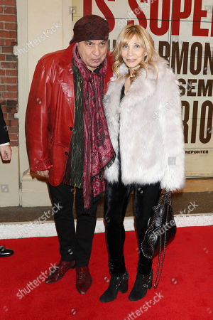 """Steven Van Zandt, Maureen Van Zandt. Steven Van Zandt and Maureen Van Zandt attend the Broadway opening night of """"Girl From The North Country"""" at the Belasco Theatre, In New York"""