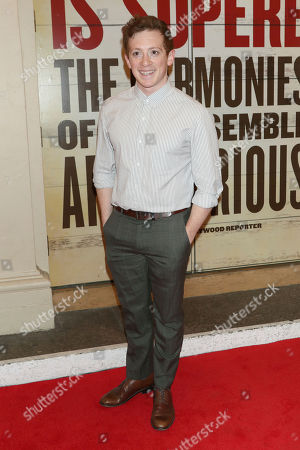 """Stock Photo of Ethan Slater attends the Broadway opening night of """"Girl From The North Country"""" at the Belasco Theatre, In New York"""