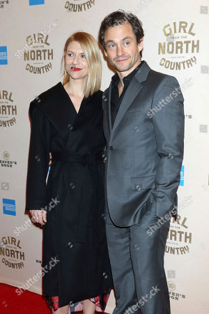 "Stock Image of Claire Danes, Hugh Dancy. Claire Danes and Hugh Dancy attend the Broadway opening night of ""Girl From The North Country"" at the Belasco Theatre, In New York"