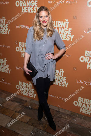 "Stock Image of Jasmine Lobe attends a screening of ""The Burnt Orange Heresy"", hosted by Sony Pictures Classics with The Cinema Society, at the Roxy Cinema, in New York"