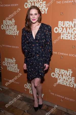 "Stock Image of Christiane Seidel attends a screening of ""The Burnt Orange Heresy"", hosted by Sony Pictures Classics with The Cinema Society, at the Roxy Cinema, in New York"