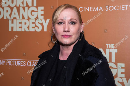 "Amy Sacco attends a screening of ""The Burnt Orange Heresy"", hosted by Sony Pictures Classics with The Cinema Society, at the Roxy Cinema, in New York"