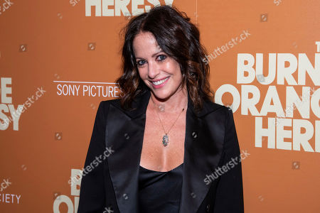"""Stock Photo of Jill Stuart attends a screening of """"The Burnt Orange Heresy"""", hosted by Sony Pictures Classics with The Cinema Society, at the Roxy Cinema, in New York"""