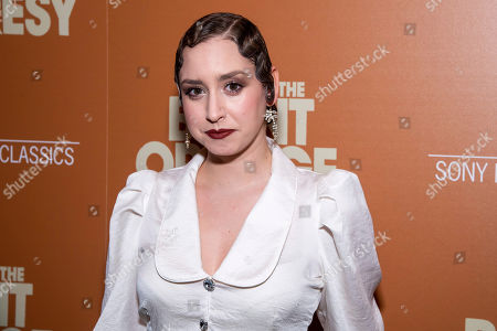 "Jazmin Grace Grimaldi attends a screening of ""The Burnt Orange Heresy"", hosted by Sony Pictures Classics with The Cinema Society, at the Roxy Cinema, in New York"