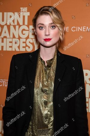 """Elizabeth Debicki attends a screening of """"The Burnt Orange Heresy"""", hosted by Sony Pictures Classics with The Cinema Society, at the Roxy Cinema, in New York"""