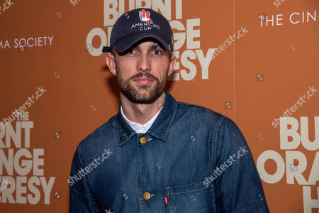 """Tobias Sorensen attends a screening of """"The Burnt Orange Heresy"""", hosted by Sony Pictures Classics with The Cinema Society, at the Roxy Cinema, in New York"""