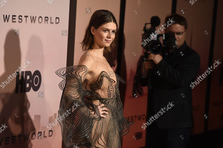 """Katja Herbers, a cast member in the second season of the HBO series """"Westworld,"""" poses at the Season 3 premiere of the show at the TCL Chinese Theatre, in Los Angeles"""