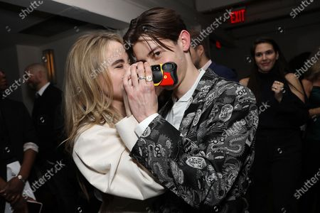 Stock Image of Sabrina Carpenter and Griffin Gluck