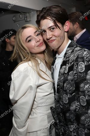 Stock Photo of Sabrina Carpenter and Griffin Gluck