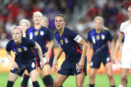 United States forward Carli Lloyd (10) is seen during the first match of the 2020 She Believes Cup soccer tournament at Exploria Stadium on 5 March 2020 in Orlando, Florida USA.