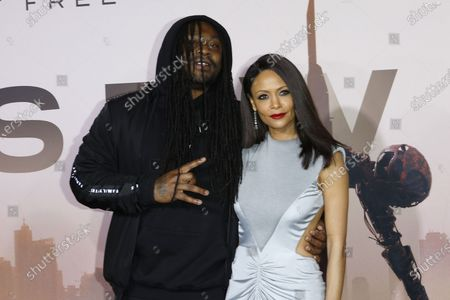 US football running back Marshawn Lynch and British actress Thandiwe Newton arrive for the premiere of HBO series Westworld season three the TCL Chinese Theatre in Hollywood, Los Angeles, California, USA 05 March 2020. The series will air in the USA on 15 March 2020.
