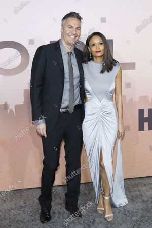 Bristish actress Thandie Newton and British film writter Ol Parker arrive for the premiere of HBO series Westworld season three the TCL Chinese Theatre in Hollywood, Los Angeles, California, USA 05 March 2020. The series will air in the USA on 15 March 2020.
