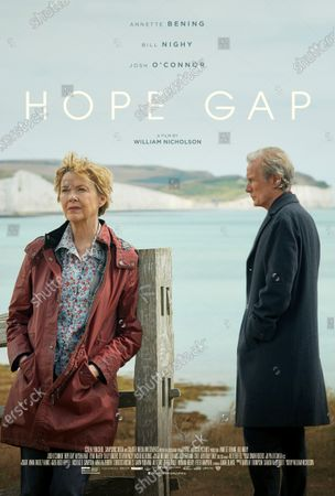 Hope Gap (2019) Poster Art. Annette Bening as Grace and Bill Nighy as Edward