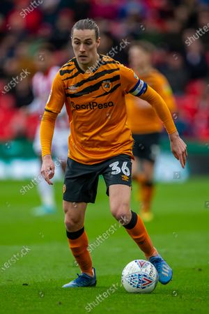 7th March 2020; Bet365 Stadium, Stoke, Staffordshire, England; English Championship Football, Stoke City versus Hull City; Jackson Irvine of Hull City