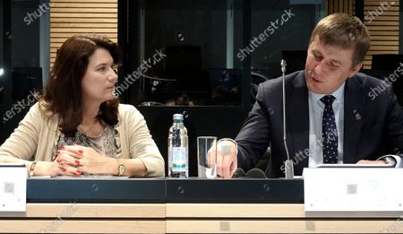 Sweden Minister for Foreign Affairs Ann Linde (L) talks with Czech Republic Minister of Foreign Affairs Tomas Petricek (R) at an informal meeting of European Union (EU) Foreign Ministers in Zagreb, Croania, 06 March 2020.