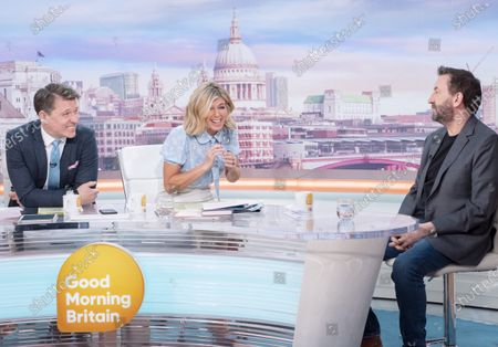 Stock Image of Ben Shephard and Kate Garraway with Lee Mack